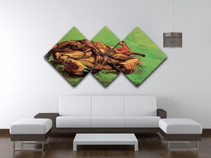 Crab on Its Back by Van Gogh 4 Square Multi Panel Canvas - Canvas Art Rocks - 3