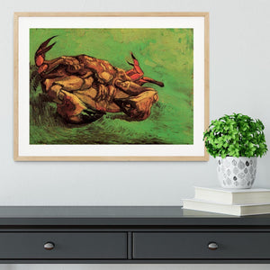 Crab on Its Back by Van Gogh Framed Print - Canvas Art Rocks - 3