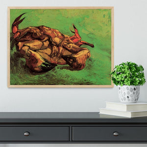 Crab on Its Back by Van Gogh Framed Print - Canvas Art Rocks - 4
