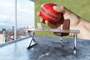 Cricket bowler about to bowl Wall Mural Wallpaper - Canvas Art Rocks - 3