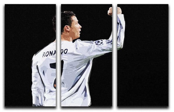 Cristiano Ronaldo 3 Split Panel Canvas Print