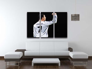 Cristiano Ronaldo 3 Split Panel Canvas Print - Canvas Art Rocks - 3
