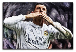 Cristiano Ronaldo Kiss Canvas Print or Poster  - Canvas Art Rocks - 1