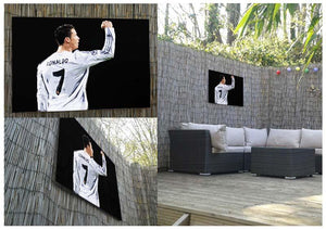 Cristiano Ronaldo Outdoor Metal Print - Canvas Art Rocks - 2