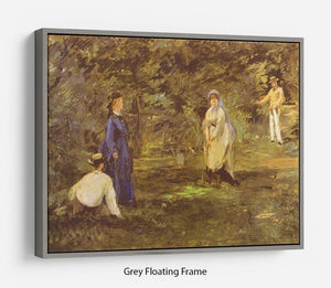Croquet Party by Manet Floating Frame Canvas