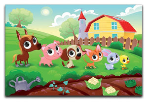 Cute Littest farm animals in the garden Canvas Print or Poster  - Canvas Art Rocks - 1