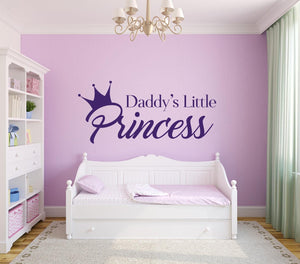 Daddys Little Princess Wall Sticker - Canvas Art Rocks - 1