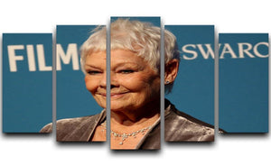 Dame Judi Dench 5 Split Panel Canvas  - Canvas Art Rocks - 1