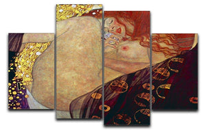 Danae by Klimt 4 Split Panel Canvas  - Canvas Art Rocks - 1