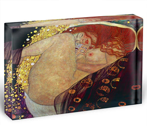 Danae by Klimt Acrylic Block - Canvas Art Rocks - 1