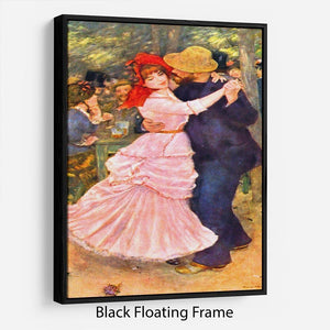 Dance in Bougival by Renoir Floating Frame Canvas
