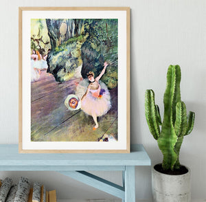 Dancer with a bouquet of flowers The Star of the ballet by Degas Framed Print - Canvas Art Rocks - 3