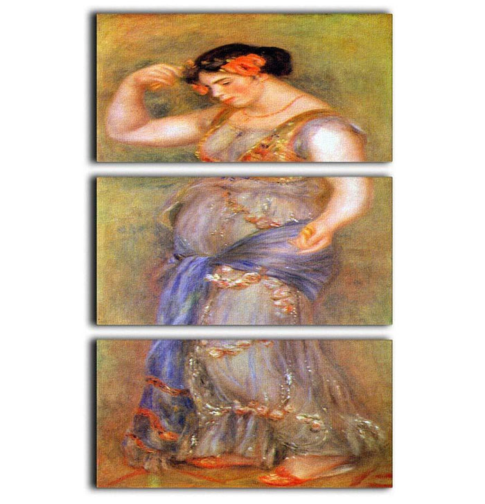 Dancer with castanets by Renoir 3 Split Panel Canvas Print