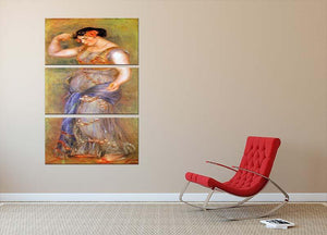 Dancer with castanets by Renoir 3 Split Panel Canvas Print - Canvas Art Rocks - 2