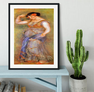 Dancer with castanets by Renoir Framed Print - Canvas Art Rocks - 1