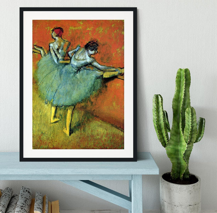 Dancers at the bar 1 by Degas Framed Print