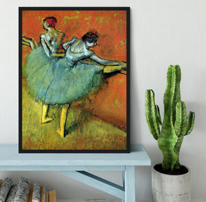 Dancers at the bar 1 by Degas Framed Print - Canvas Art Rocks - 2