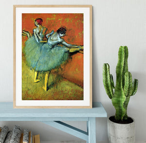 Dancers at the bar 1 by Degas Framed Print - Canvas Art Rocks - 3