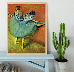 Dancers at the bar 1 by Degas Framed Print - Canvas Art Rocks - 4