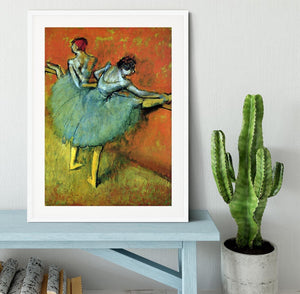 Dancers at the bar 1 by Degas Framed Print - Canvas Art Rocks - 5