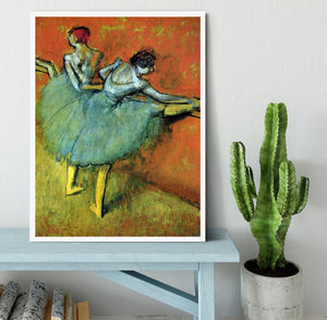 Dancers at the bar 1 by Degas Framed Print - Canvas Art Rocks -6