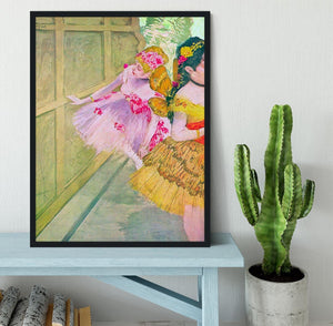 Dancers behind a backdrop by Degas Framed Print - Canvas Art Rocks - 2