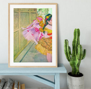 Dancers behind a backdrop by Degas Framed Print - Canvas Art Rocks - 3