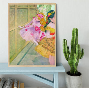 Dancers behind a backdrop by Degas Framed Print - Canvas Art Rocks - 4