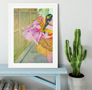 Dancers behind a backdrop by Degas Framed Print - Canvas Art Rocks - 5