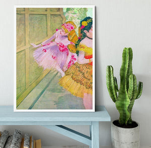 Dancers behind a backdrop by Degas Framed Print - Canvas Art Rocks -6