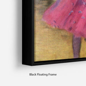 Dancers in pink between the scenes by Degas Floating Frame Canvas - Canvas Art Rocks - 2