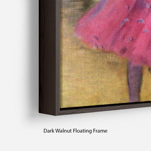 Dancers in pink between the scenes by Degas Floating Frame Canvas - Canvas Art Rocks - 6