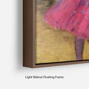 Dancers in pink between the scenes by Degas Floating Frame Canvas - Canvas Art Rocks - 8