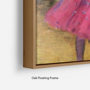 Dancers in pink between the scenes by Degas Floating Frame Canvas - Canvas Art Rocks - 10