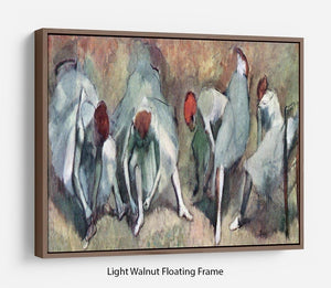 Dancers lace their shoes by Degas Floating Frame Canvas - Canvas Art Rocks 7