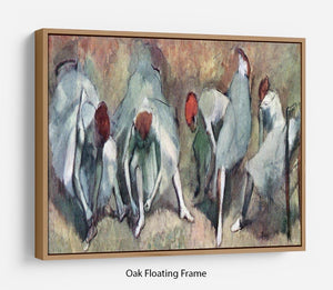 Dancers lace their shoes by Degas Floating Frame Canvas - Canvas Art Rocks - 9