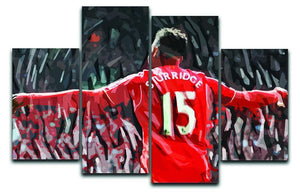 Daniel Sturridge 4 Split Panel Canvas  - Canvas Art Rocks - 1