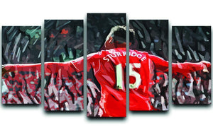 Daniel Sturridge 5 Split Panel Canvas  - Canvas Art Rocks - 1
