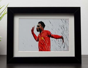 Daniel Sturridge Framed Print - Canvas Art Rocks - 1