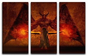 Dark Art 3 Split Panel Canvas Print - Canvas Art Rocks - 1
