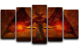 Dark Art 5 Split Panel Canvas  - Canvas Art Rocks - 1