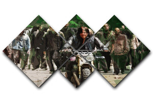 Daryl The Walking Dead 4 Square Multi Panel Canvas  - Canvas Art Rocks - 1