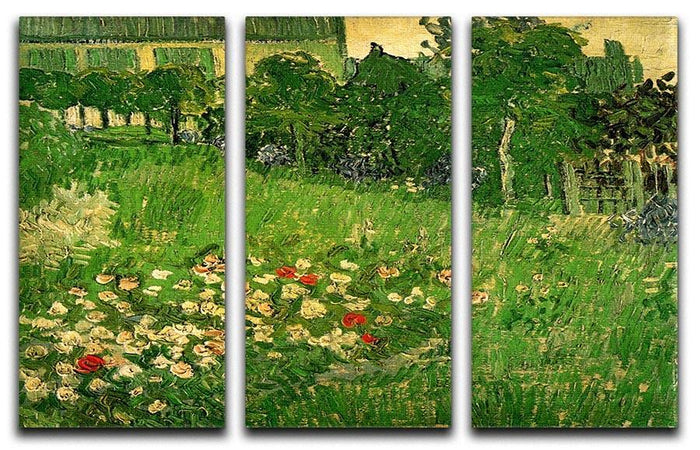 Daubigny's Garden by Van Gogh 3 Split Panel Canvas Print