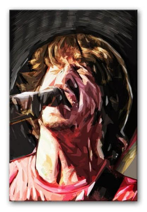 The Foo Fighters' Dave Grohl Print - Canvas Art Rocks - 1