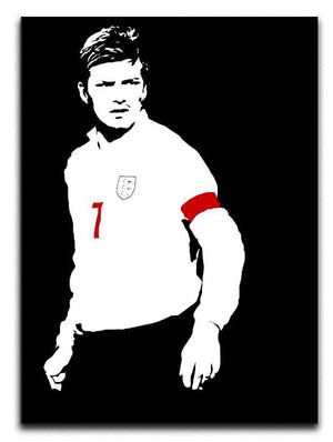 David Beckham Black And White Canvas Print or Poster  - Canvas Art Rocks - 1