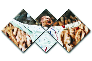 David Beckham England 4 Square Multi Panel Canvas  - Canvas Art Rocks - 1