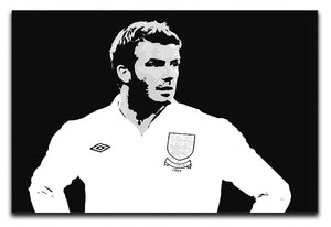 David Beckham Pop Art Black And White Canvas Print or Poster  - Canvas Art Rocks - 1