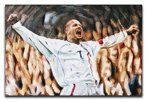 David Beckham England Print - Canvas Art Rocks - 1