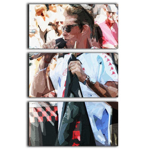 David Hasselhoff Pop Art 3 Split Panel Canvas Print - Canvas Art Rocks - 1