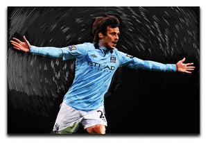 David Silva Manchester City Canvas Print or Poster  - Canvas Art Rocks - 1